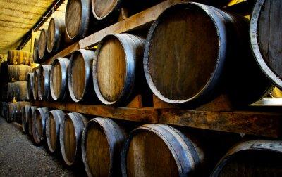 Wall mural Wine barrels