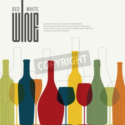 Wall mural Wine list design