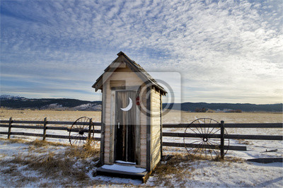Wall mural Winter Outhouse