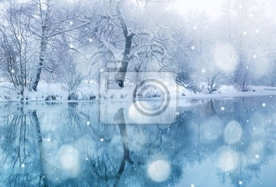 Wall mural winter time