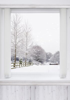 Wall mural Winter Window