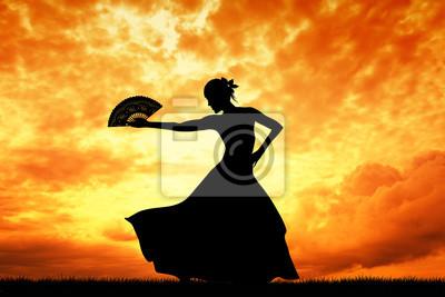 Woman dancing flamenco