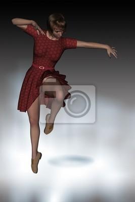 woman dancing in beautiful light