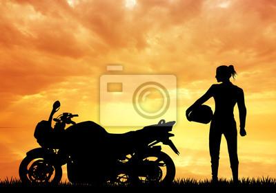 woman motorcyclist
