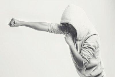 Wall mural Women training punches
