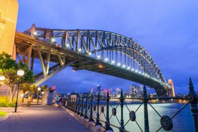 Wall mural Wonderful night skyline of Sydney, Australia