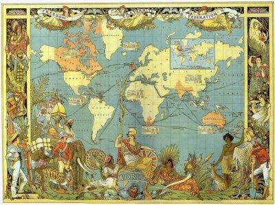 Wall mural World