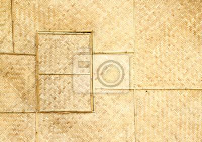 woven window panel and wall