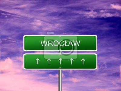 Wroclaw City Poland Sign