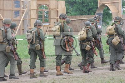 WWII reenactment.American soldiers