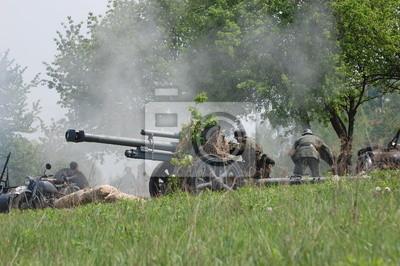 WWII reenactment. German cannon