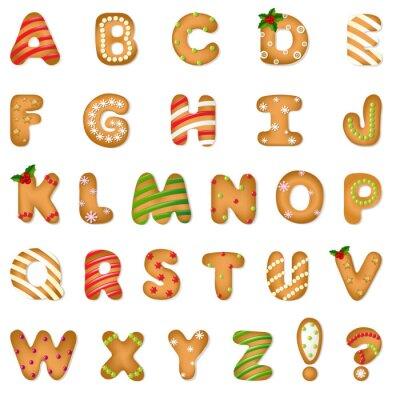 Wall mural Xmas Gingerbread Cookie Alphabet