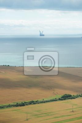 Чёрное море, вид с самолета
