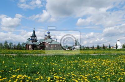 Русский пейзаж с одуванчиками