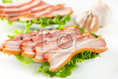 Baconwith dill and pepper
