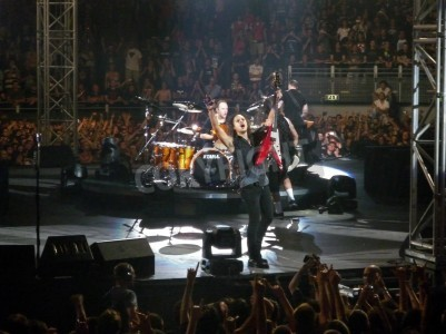"""Wall mural Concert of the band """"Metallica"""", Rome 24 June, 2009. The band."""