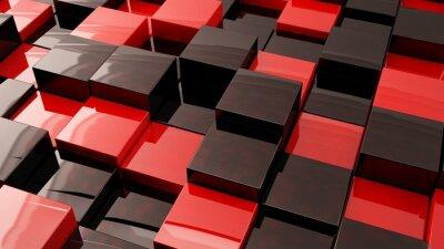 Wall mural Kırmızı Kutular / 3Boyutlu kutu resmi