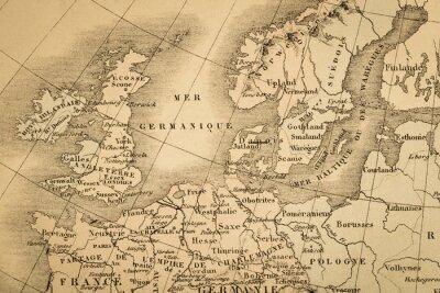 Wall mural アンティークの世界地図 ヨーロッパ