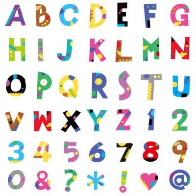 Wall mural アルファベット、数字