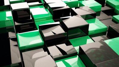 Wall mural Yeşil Kutular / 3Boyutlu kutu resmi