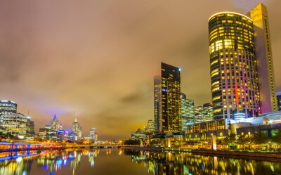 Wall mural Yarra River and Melbourne skyline.