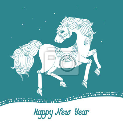 Wall mural Year of Horse