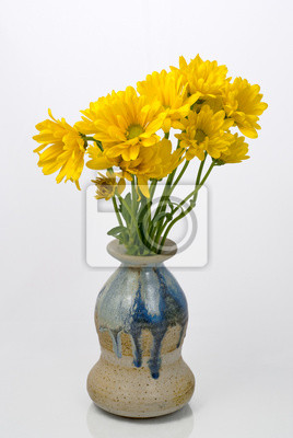 Wall mural Yellow Flowers in a Vase