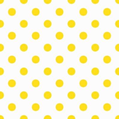 Wall mural Yellow Polka Dot Pattern