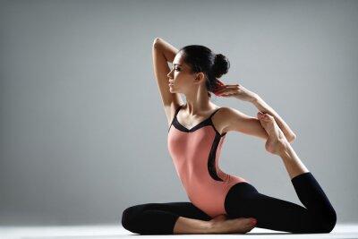 Wall mural yoga exercise