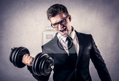 young businessman who is training