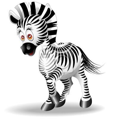 Zebra Cartoon-Vector