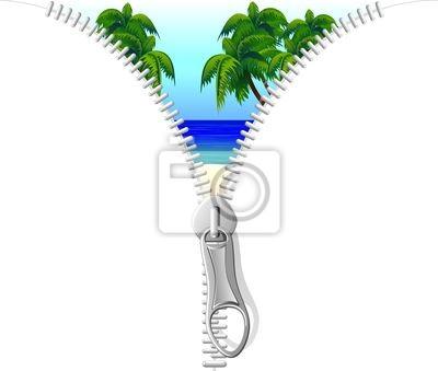 Zip - zip of Tropical Sea on Tropical Beach Vector