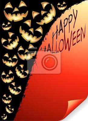 Zucche Sfondo di Carta-Pumpkins Paper Background-Vector