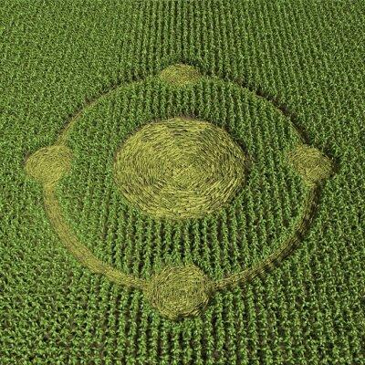 Poster 3d illustration of a crop circle