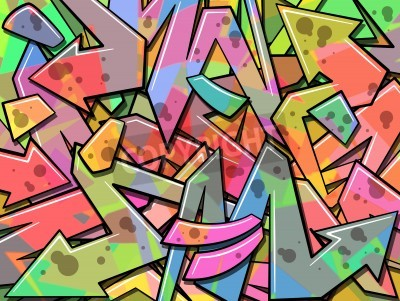 Poster A Colorful Graffiti Background