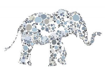 Poster A creative illustration of an Elephant