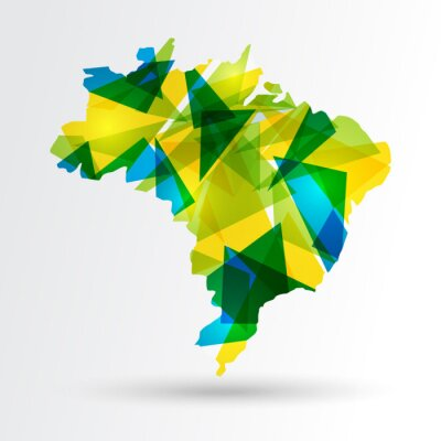 Poster Abstract Brazil map