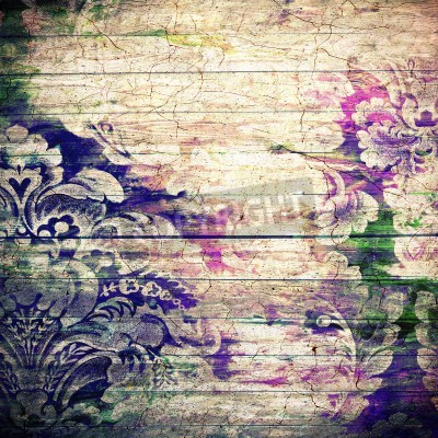 Poster Abstract old background with grunge texture. For art texture, grunge design, and vintage paper or border frame