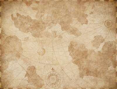 Poster Abstract old nautical vintage map background