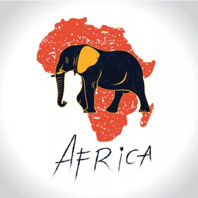 Poster Africa and Safari with the elephant logo 2