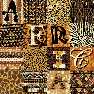 Poster African style vector wallpaper