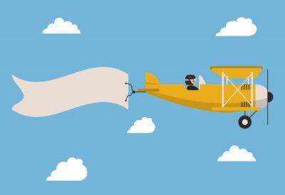 Poster Airplane icon design
