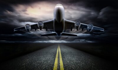 Poster Airplane on the runway