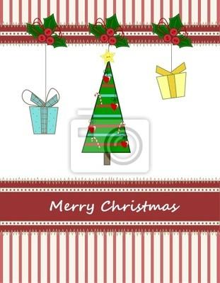 Albero Di Natale Regali.Albero Di Natale Con Regali Posters For The Wall Posters Frill Mast Hanging Myloview Com