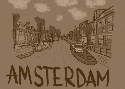 Poster Amsterdam vintage