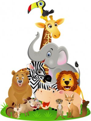 Poster animal cartoon