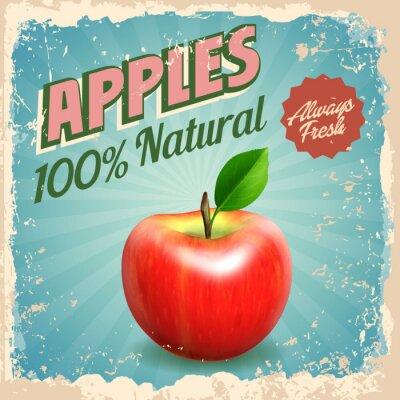 Poster apples vintage
