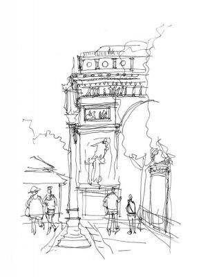 Poster Arc de Triomphe sketch