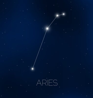 Poster Aries constellation in night sky