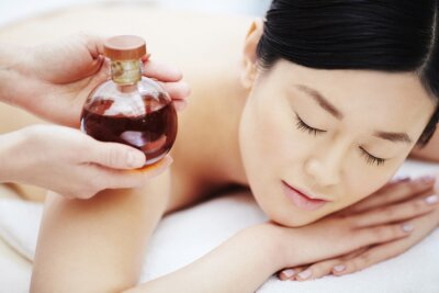 Poster Aromatic oil for massage